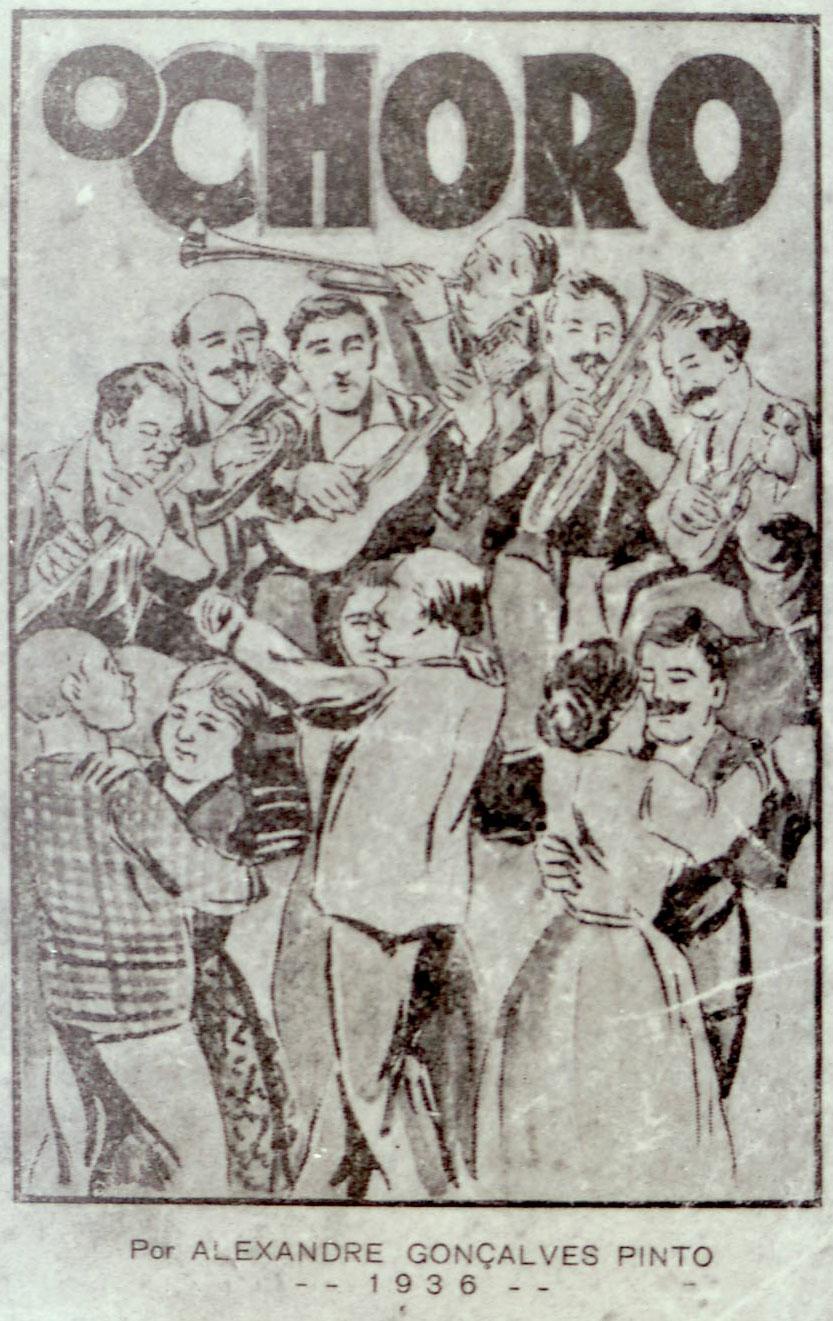 """Capa da primeira edição (1936) do livro """"O choro"""", de Alexandre Gonçalves Pinto, o Animal (IMS_JRT_alexandregoncalvespinto03 / Acervo Tinhorão / IMS)"""