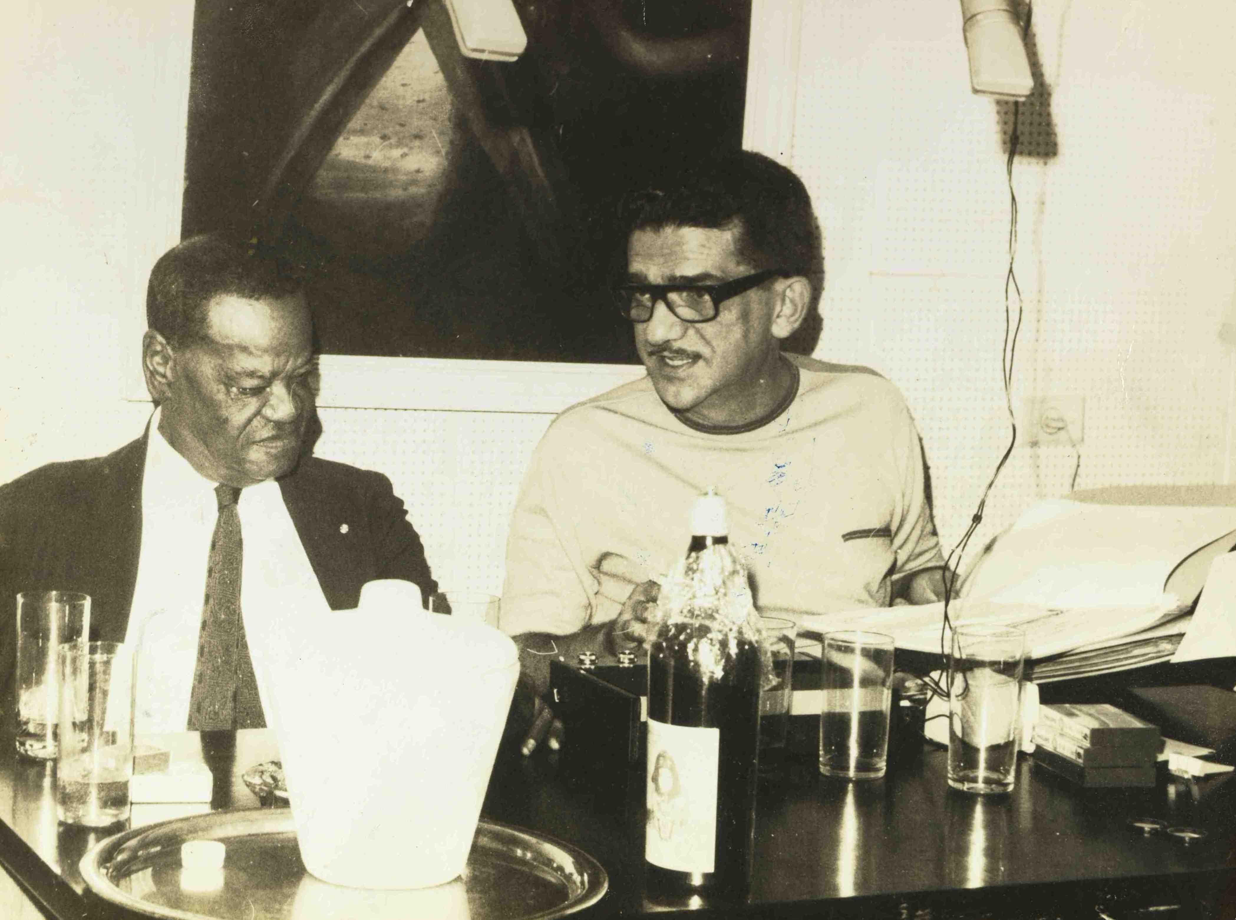 Pixinguinha e Jacob do Bandolim. Segundo depoimento de Pixinguinha ao Museu da Imagem e do Som do Rio de Janeiro. 22/04/1968 (MIS_SCabral_103222 / Acervo Sérgio Cabral / MIS-RJ)